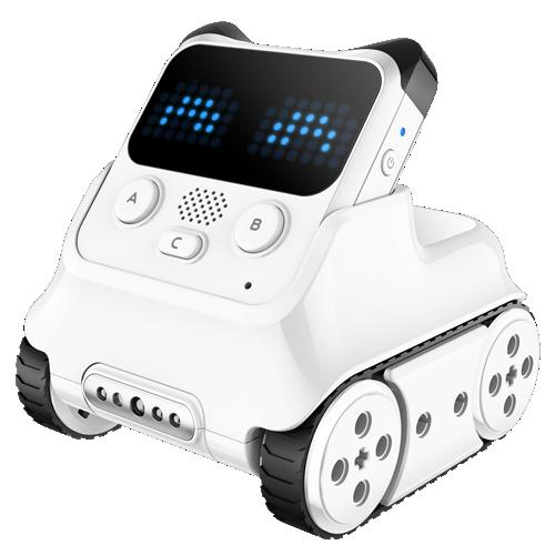 Codey Rocky combina un hardware con más de 10 sensores distintos con un software que permite a los niños aprender programación mientras juegan y crean. Permite introducirse en el lenguaje Python,  así como desarrollar  tecnologías de vanguardia como la inteligencia artificial y el internet de las cosas.