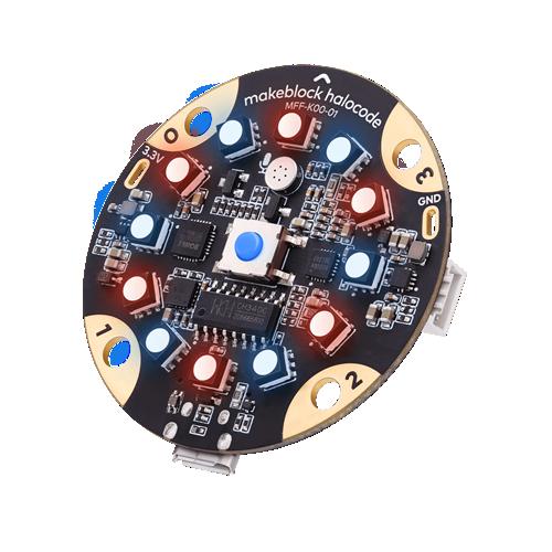 Makeblock Halocode es un microordenador en una placa de 5 cm de diametro con Wi-Fi incorporado. Diseñado para la enseñanza de programación, su diseño compacto integra una amplia selección de módulos electrónicos. Emparejándolo con el software de programación basado en bloques mBlock, Halocode ofrece todo tipo de oportunidades para experimentar la aplicación AI
