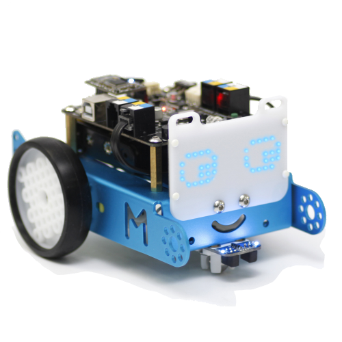 Posiblemente el robot más conocido!!. mBot es un robot educativo con el que  aprenderán sobre una gran variedad de elementos de robótica y componentes electrónicos, mientras aprenden los fundamentos de la programación basada en bloques y desarrollan habilidades como el pensamiento lógico y el diseño.