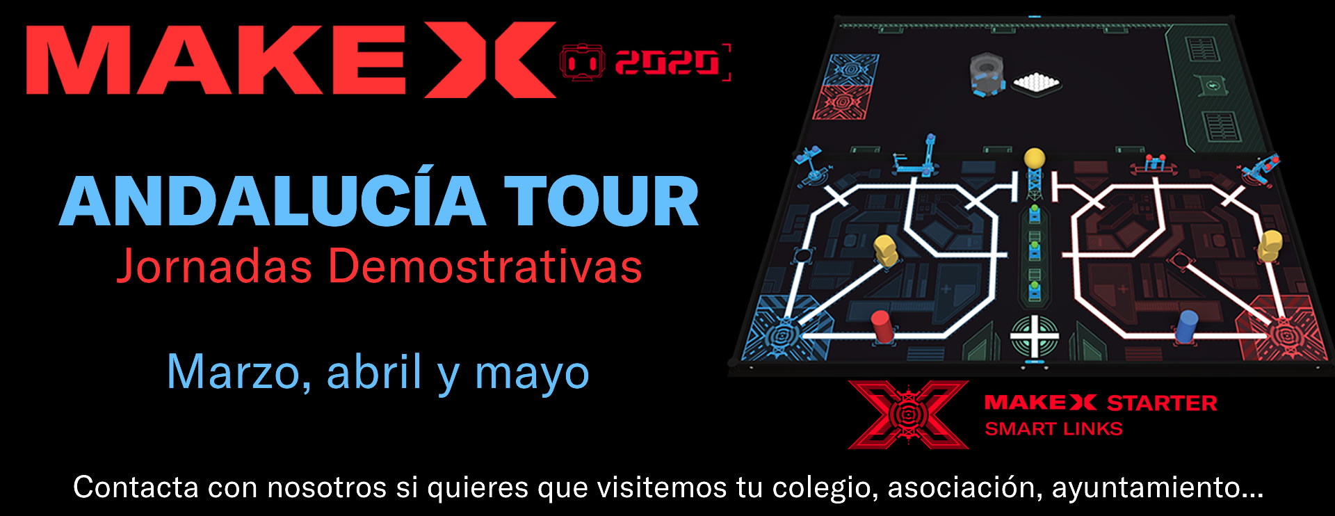 Banner MakeX Andalucia Tour 2020